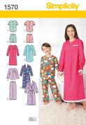 1570 Simplicity Pattern: Child's, Girls' and Boys' Loungewear
